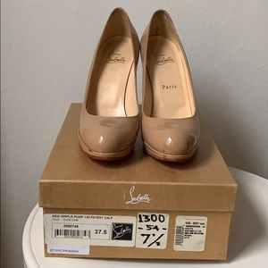 Christian Louboutin New Simple Pump 120 Patent Tan